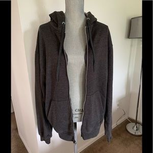 Men's Champion Charcoal Gray Full Zip Hoodie